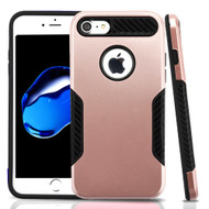 *Sale* Hybrid Armor Case with Carbon Fiber Accents for iPhone 8 / 7 - Rose Gold