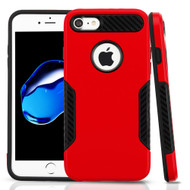 *Sale* Hybrid Armor Case with Carbon Fiber Accents for iPhone 8 / 7 - Red