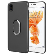 Ring Stent Finger Loop Case for iPhone X - Black