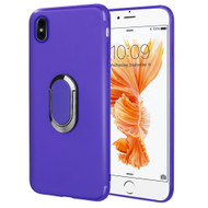 Ring Stent Finger Loop Case for iPhone X - Navy Blue