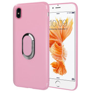 Ring Stent Finger Loop Case for iPhone X - Pink