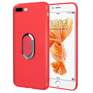 Ring Stent Finger Loop Case for iPhone 8 Plus / 7 Plus - Red
