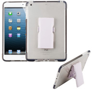 Bumper Reinforcement Transparent TPU Case with Detachable Stand and Screen Protector for iPad Mini - Black