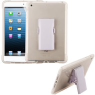 Bumper Reinforcement Transparent TPU Case with Detachable Stand and Screen Protector for iPad Mini - White