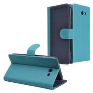 *SALE* Leather-Style Wallet Case for Samsung Galaxy J7 (2017) / J7 V / J7 Perx - Navy Blue