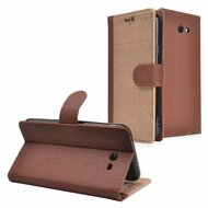*SALE* Leather-Style Wallet Case for Samsung Galaxy J7 (2017) / J7 V / J7 Perx - Beige Brown