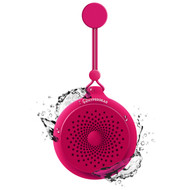HyperGear Splash Water Resistant Bluetooth Wireless Speaker with Built-In Mic - Hot Pink