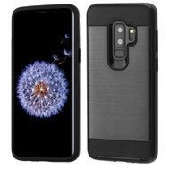 Brushed Coated Hybrid Armor Case for Samsung Galaxy S9 Plus - Black