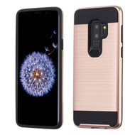 Brushed Coated Hybrid Armor Case for Samsung Galaxy S9 Plus - Rose Gold