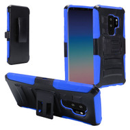 Advanced Armor Hybrid Kickstand Case with Holster for Samsung Galaxy S9 Plus - Black Blue