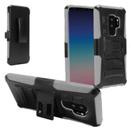 Advanced Armor Hybrid Kickstand Case with Holster for Samsung Galaxy S9 Plus - Black Grey