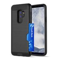 ID Card Slot Hybrid Case for Samsung Galaxy S9 Plus - Black