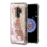 *Sale* Tuff Lite Quicksand Glitter Transparent Case for Samsung Galaxy S9 Plus - Eiffel Tower