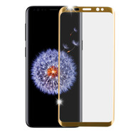 3D Curved Full Coverage Premium HD Tempered Glass Screen Protector for Samsung Galaxy S9 Plus - Gold
