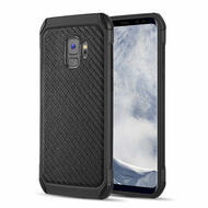 Tough Anti-Shock Hybrid Case for Samsung Galaxy S9 - Carbon Fiber