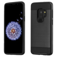 Brushed Coated Hybrid Armor Case for Samsung Galaxy S9 - Black