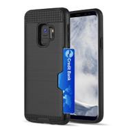 ID Card Slot Hybrid Case for Samsung Galaxy S9 - Black