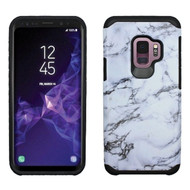 Hybrid Multi-Layer Armor Case for Samsung Galaxy S9 - Marble White