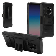 Advanced Armor Hybrid Kickstand Case with Holster for Samsung Galaxy S9 - Black