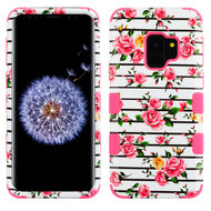 Military Grade Certified TUFF Image Hybrid Armor Case for Samsung Galaxy S9 - Pink Fresh Roses