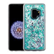 Quicksand Glitter Transparent Case for Samsung Galaxy S9 - Teal Green