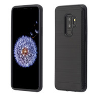 Brushed Multi-Layer Hybrid Armor Case for Samsung Galaxy S9 Plus - Black