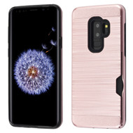 Dual-Layer Hybrid Case with Card Slot for Samsung Galaxy S9 Plus - Rose Gold