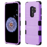 Military Grade Certified Brushed TUFF Hybrid Armor Case for Samsung Galaxy S9 Plus - Purple