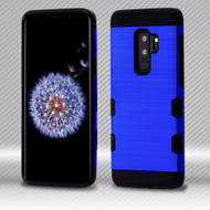 Military Grade Certified TUFF Trooper Dual Layer Hybrid Armor Case for Samsung Galaxy S9 Plus - Blue