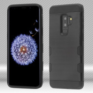 *Sale* Military Grade Certified TUFF Trooper Dual Layer Hybrid Armor Case for Samsung Galaxy S9 Plus - Black