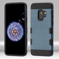Military Grade Certified TUFF Trooper Dual Layer Hybrid Armor Case for Samsung Galaxy S9 - Slate Blue