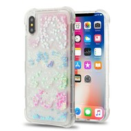 *Sale* Tuff Lite Quicksand Glitter Transparent Case for iPhone X - Semicircle Partition
