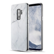 Marble IMD Soft TPU Case for Samsung Galaxy S9 Plus - White