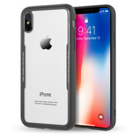 *Sale* Crystal Clear Tempered Glass Backing Case for iPhone X - Black