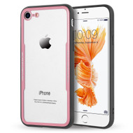 *Sale* Crystal Clear Tempered Glass Backing Case for iPhone 8 / 7 - Pink