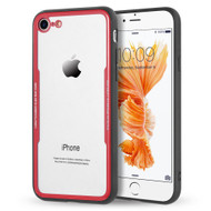 *Sale* Crystal Clear Tempered Glass Backing Case for iPhone 8 / 7 - Red