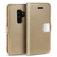 Essential Leather Wallet Case for Samsung Galaxy S9 Plus - Gold