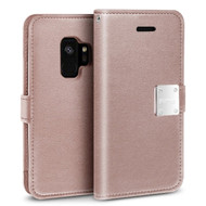 Essential Leather Wallet Case for Samsung Galaxy S9 - Rose Gold