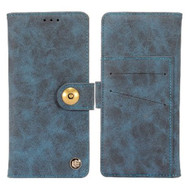 Faux Suede Leather Wallet with Detachable Magnetic Case for Samsung Galaxy S9 Plus - Dark Blue