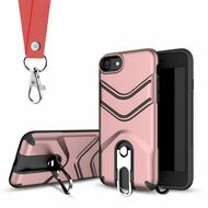 *Sale* Victory Rugged Hybrid Armor Case with Metal Loop Kickstand and Lanyard for iPhone 8 / 7 - Rose Gold