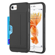 Exec Hybrid Case with Card Holder Compartment for iPhone 8 / 7 / 6S / 6 - Black