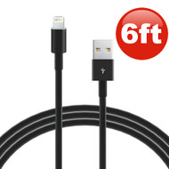 Eaglecell 6 Ft. Lightning Connector to USB Charging and Sync Cable - Black