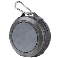 IPX5 Waterproof Bluetooth Wireless Speaker with Suction Cup and Built-In Mic - Grey