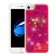 *Sale* Confetti Quicksand Glitter Transparent Case with Flashing LED Light for iPhone 8 / 7 - Butterfly