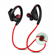 Athlete Series Bluetooth V4.0 Wireless Earhook Headphones with Microphone - Black Red