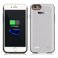 Smart Power Bank Battery Case 5800mAh for iPhone 8 / 7 / 6S / 6 - White
