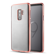 Skyfall Electroplating Clear Transparent TPU Soft Case for Samsung Galaxy S9 Plus - Rose Gold