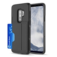 Exec Hybrid Case with Card Holder Compartment for Samsung Galaxy S9 Plus - Black