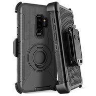 Anti-Shock Heavy Duty Hybrid Case with Holster for Samsung Galaxy S9 - Black