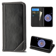 Mybat Genuine Leather Wallet Case for Samsung Galaxy S9 - Black